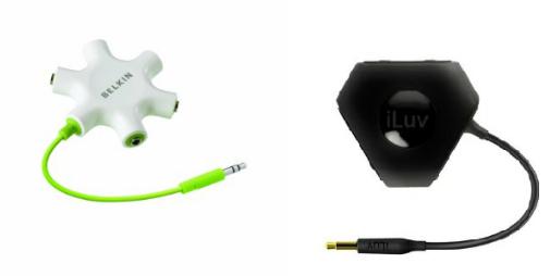 2 Quality 5-Way Headphone Splitters