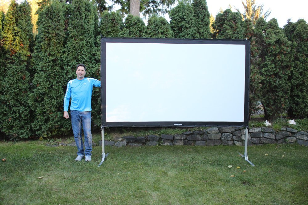 Portable Outdoor Screen : Portable projection screens for projectors accessories