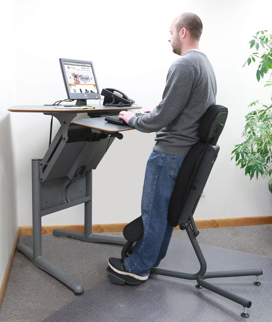 3 standing chairs for your office accessories lists for Standing office desk furniture