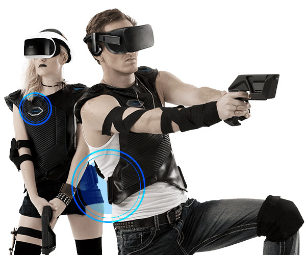 BluAtom Virtual Reality Vest & Gun Controller