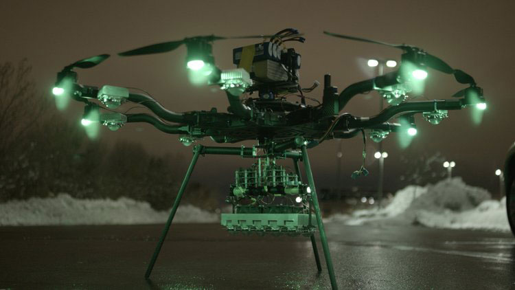 250,000 Lumen Drone LED Light for Night Flying