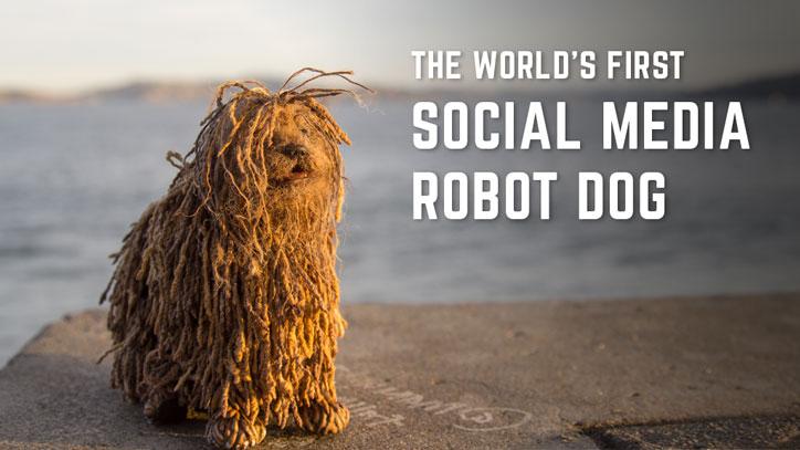 Soshee Robot Dog with Social Media Notifications