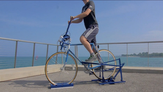 Up-Ride: Turns Your Bicycle Into an Elliptical