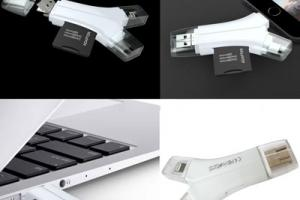4 USB-C Flash Cards & SD Card Adapters