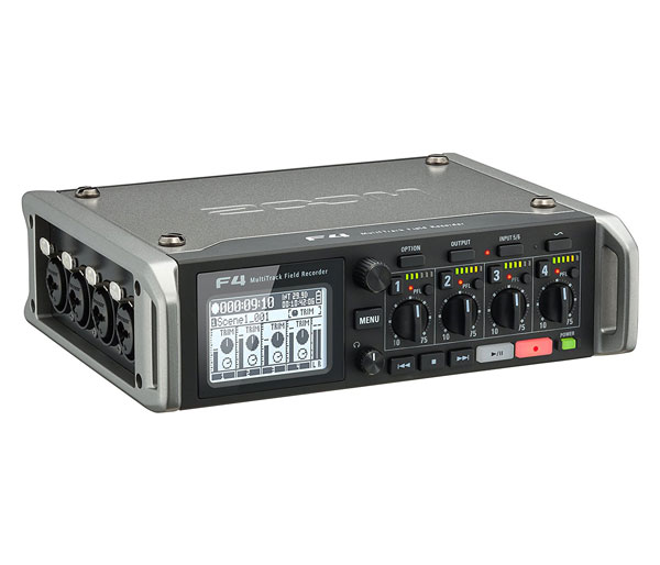 Zoom F4 Multitrack Field Recorder with Mixer