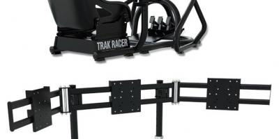 Trak Racer Triple Monitor Floor Mount