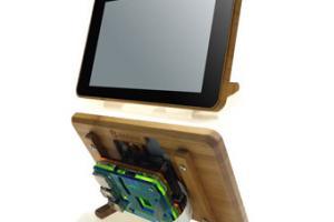 Eleduino Bamboo Case for Raspberry Pi Touchscreen Display