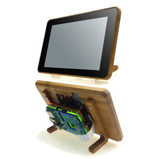 Eleduino Bamboo Case for Raspberry Pi Touchscreen Display