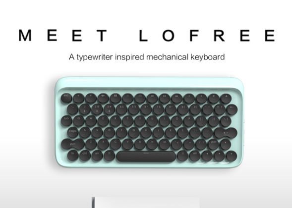 lofree: Typewriter Mechanical Keyboard with Bluetooth