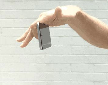 Hold Button Smartphone Grip Prevents Drops
