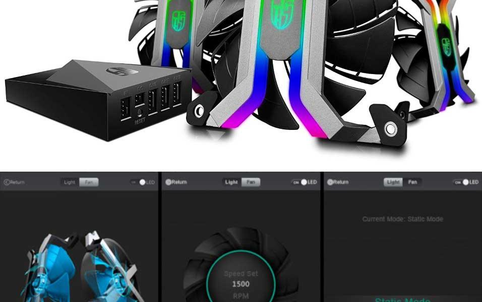 DEEPCOOL MF120 App Smart PC Fan with Built-in Lighting