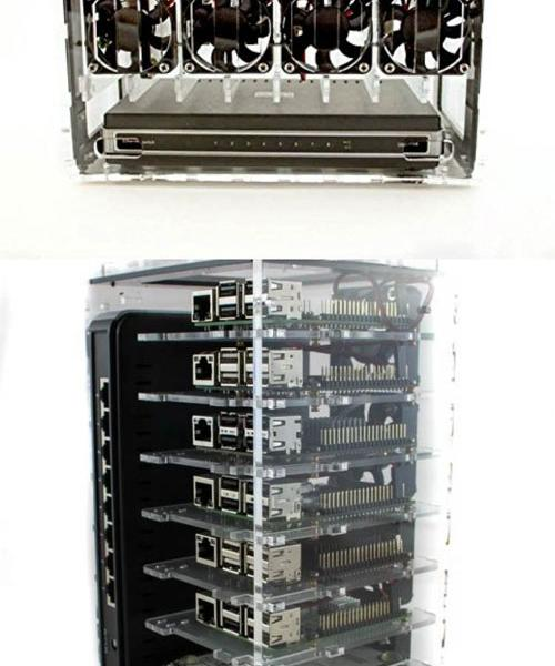 C4Labs 8 Slot Cluster Cloud Case for Raspberry Pi