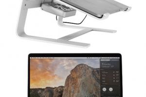 Macally Laptop Stand with Cooling Fan