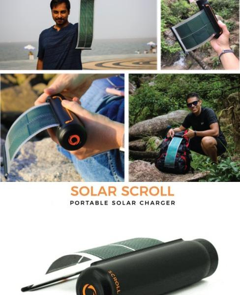 SOUL Solar Scroll: Flexible Rollable Solar Charger