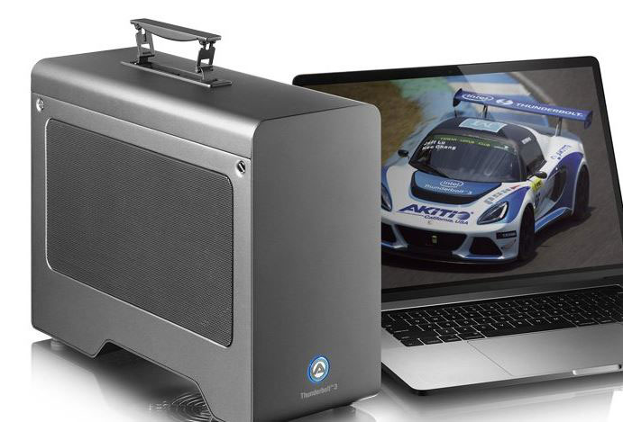 AKiTiO Node Pro Thunderbolt 3 PCIe Expansion Box for Laptops