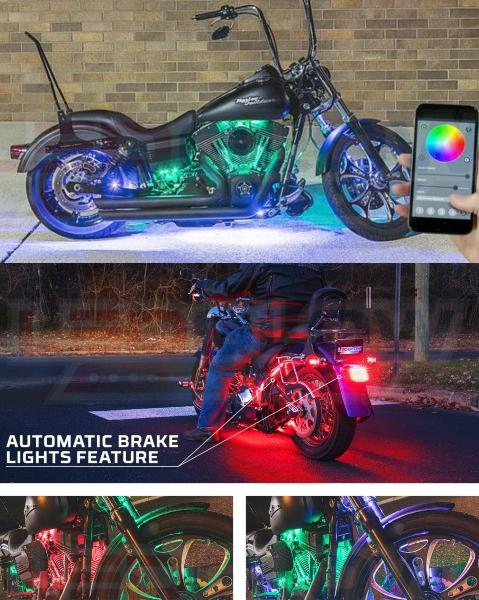 LEDGlow SMD LED Motorcycle Lighting Kit with Smartphone Control