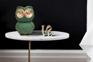 Owl Statue Echo Dot Holder & Coin Bank