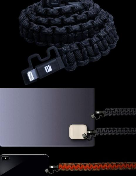 Dark Energy's Survival Paracord Lightning Cable