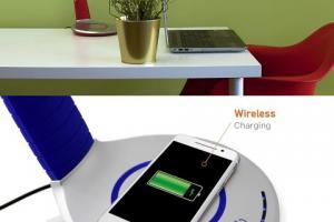Luni Qi Wireless Charging LED Desk Lamp