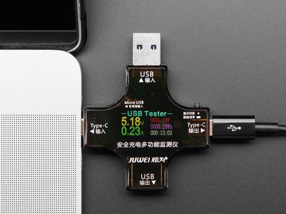 Multifunctional USB-A, USB-C Digital Tester