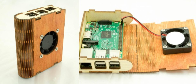 Wood Pi Book Case for Raspberry Pi