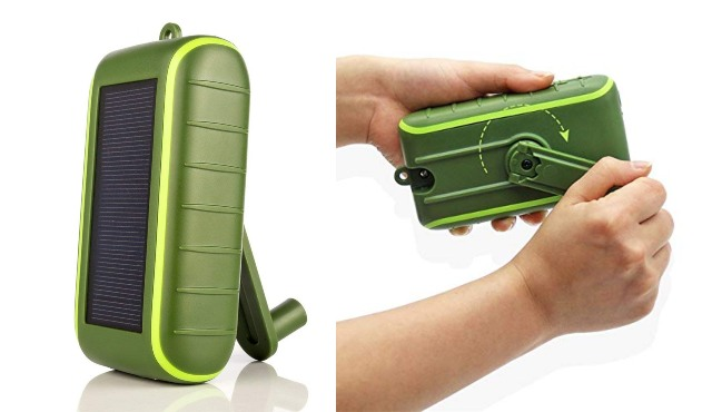 AYTECH Solar Hand-Crank Mobile Charger