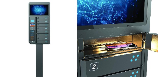 ChargeTech Smartphone Charging Locker with Video Display