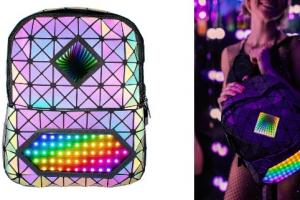 Cosmic Infinity Mirror Backpack with App Control