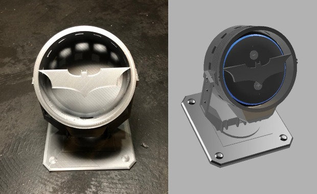 3D Printed Bat-Signal Stand for Amazon Echo Dot