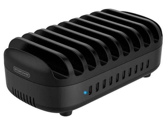 NTONPOWER 10-Port Charging Station for Phones & Tablets