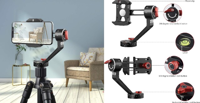Zecti 360-Degree Tripod Head for iPhone