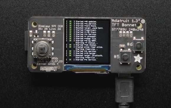 Adafruit 1.3″ Color TFT Bonnet for Raspberry Pi + Joystick