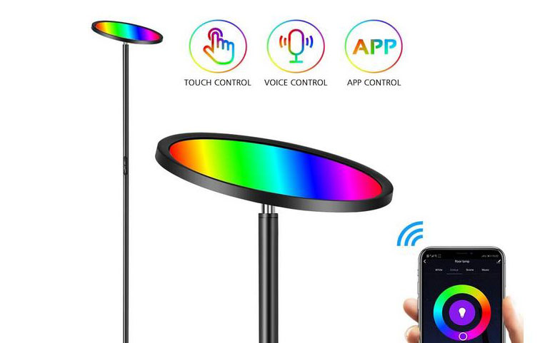 HueLiv RGBW WiFi Floor Lamp with Alexa Support