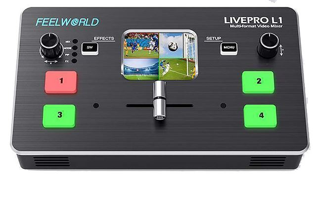 Feelworld Livepro L1 Video Mixer & Switcher with PC/App Control
