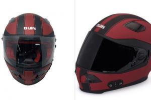 Quin Spitfire Rosso Bluetooth Smart Helmet with Crash Detection