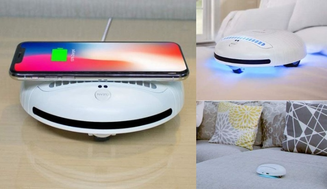 ROCKUBOT Bed Cleaning Robot with Bluetooth Music