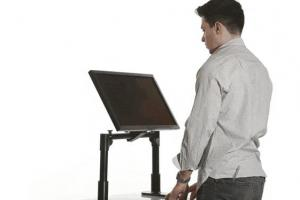 Rigg: Portable Sit Stand Monitor Mount