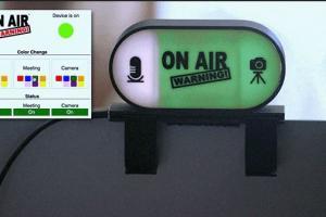 On Air Warning! Camera & Mic Status Indicator Light