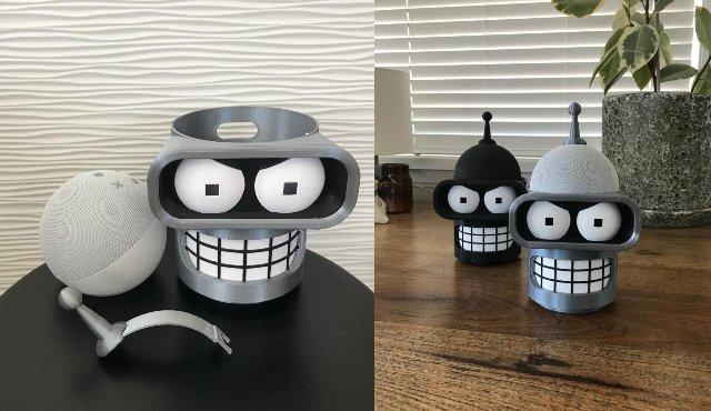 Futurama Bender Echo Dot 4 Holder